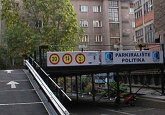 Belgrade, Serbia, 2002 (70 parking spaces)